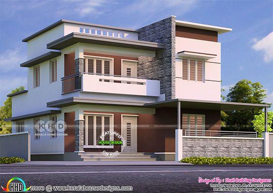 Flat roof kerala home design 2021