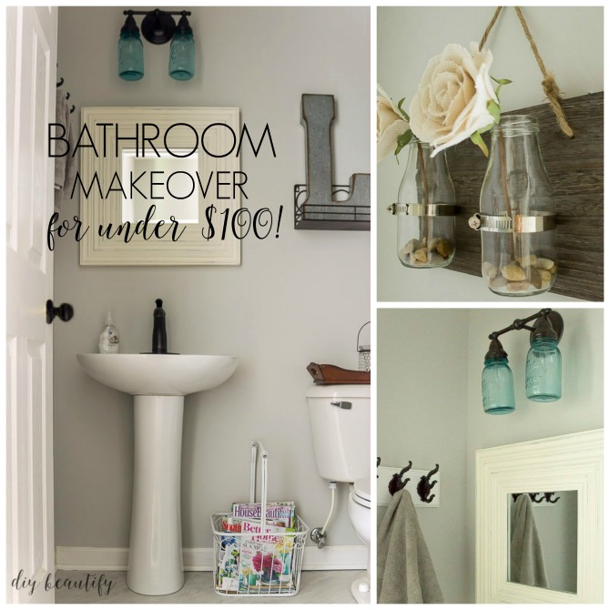 Economical Bathroom Makeovers mini budget bathroom makeover | diy beautify