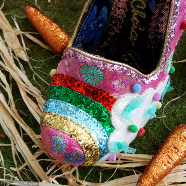 Irregular Choice Rainbunny rainbow detail