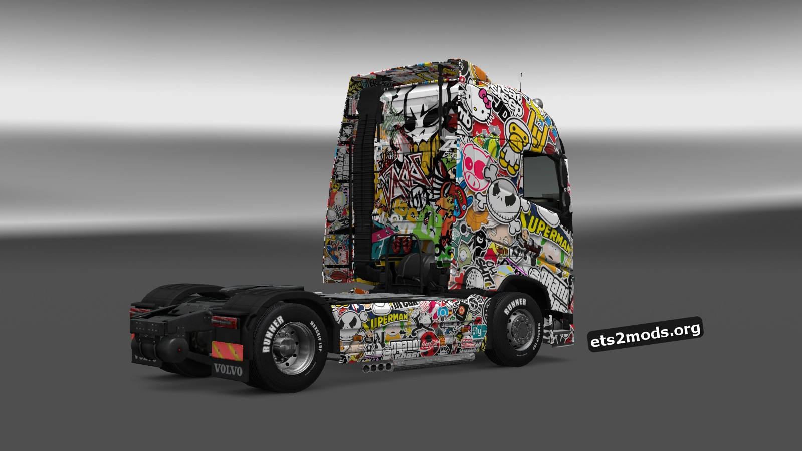 Sticker Bomb Skin for Volvo FH 2012
