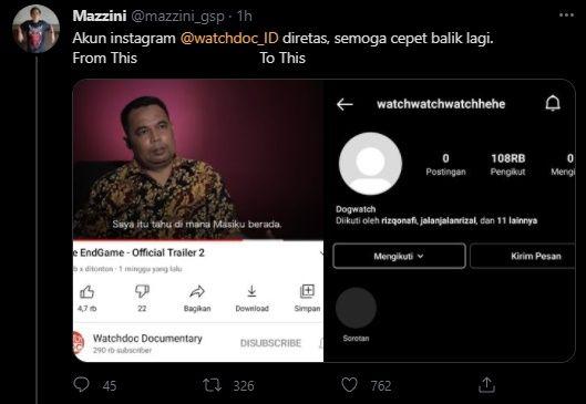 Rilis Film KPK The End Game, Akun Instagram Watchdoc Diduga Dibajak
