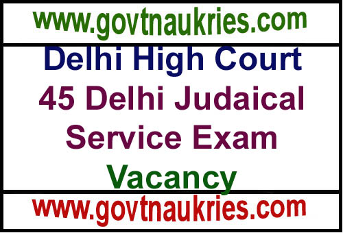 Govt Jobs for Delhi High Court Recruitment 2019