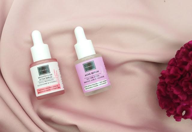 botol acne serum dan brightly serum scarlett whitening