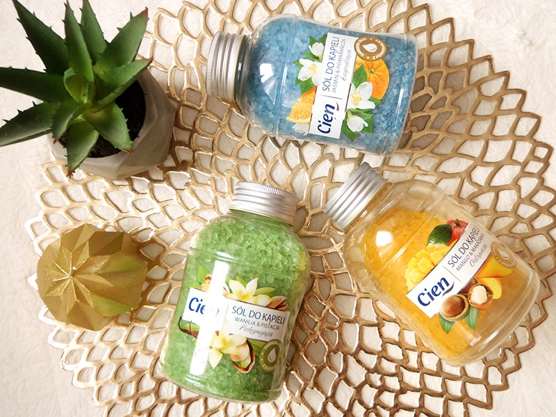 Cien sól pistacja i wanilia, Cien sol mango, Cien sol pomarańcza i jaśmin