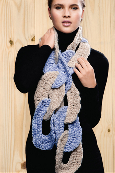 Bufanda Aros Gigantes Crochet Patron