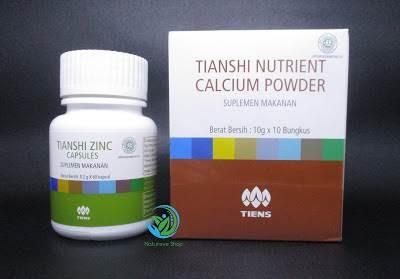 Suplemen Peninggi Badan Kalsium dan Zinc