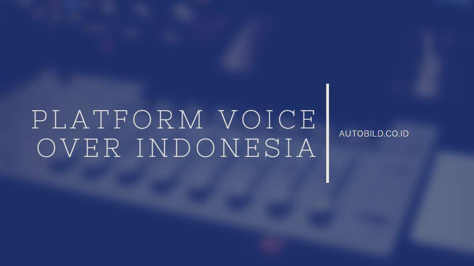 platform voice over ternama di indonesia