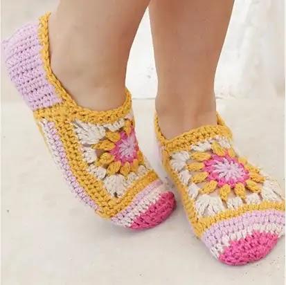 Pantuflas Himalayan a Crochet
