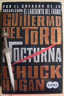 Portada del libro Nocturna, de Guillermo del Toro y Chuck Hogan