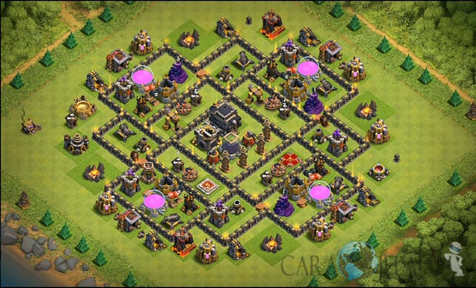 Base Farming TH 9 COC Update Bomb Tower Terbaru 2017 Tipe 20