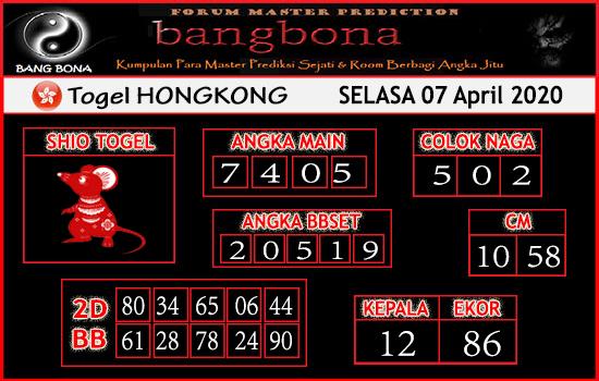 Prediksi HK Malam Ini Selasa 07 April 2020 - Prediksi HK Bang Bona