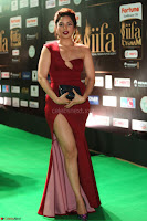 Natasha Nebasha in a Leg Slit Sleeveless Stunning Red Gown at IIFA Utsavam Awards 2017 067.JPG