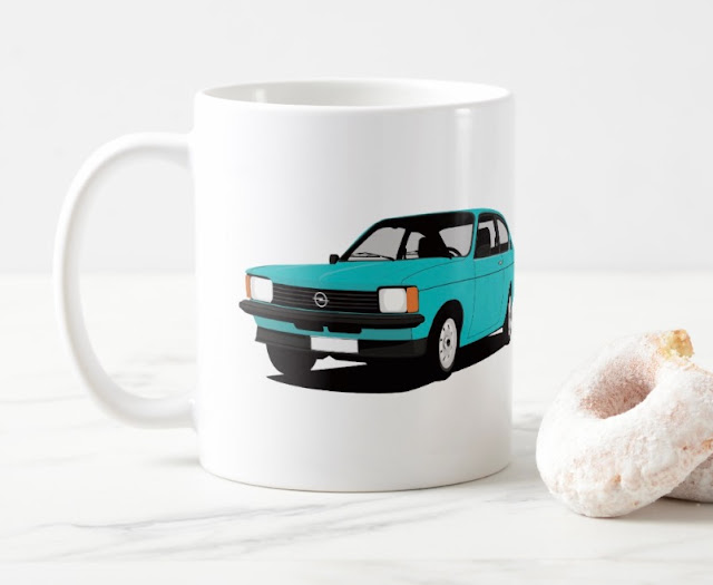 Opel Kadett C Coupé coffee cup