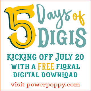 Power Poppy, Marcella Hawley, 5 Days of Digis, July 2018