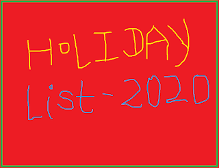 India Post Holiday list 2020 for Rajasthan Circle