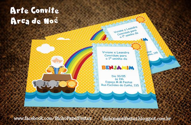 Arte Convite Arca de Noé