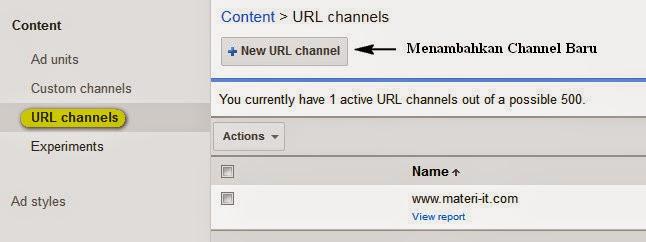 Cara membuat URL Channel Google Adsense