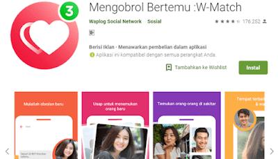 w match aplikasi mencari jodoh dan pasangan
