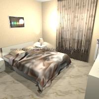 La camera da letto moderna