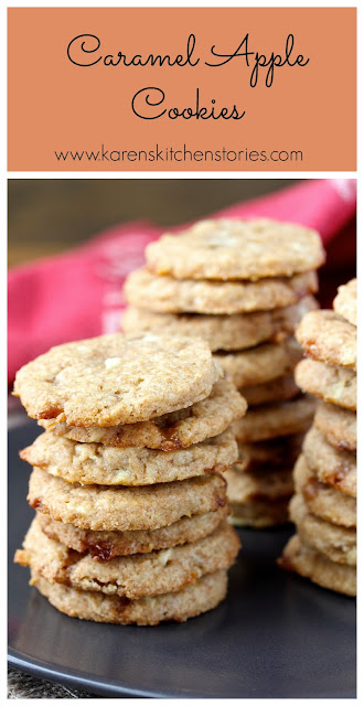 These Caramel Apple Cookies are soft and moist, and are so reminiscent of  the flavors of fall.