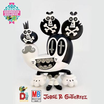 Designer Con 2020 Exclusive Muerto Mouse B&W Edition Vinyl Figure by Jorge R. Gutierrez x 3DRetro x Mexican Bootleg