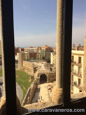 Vista del circo desde la torre del Pretorio. Tarragona | caravaneros.com