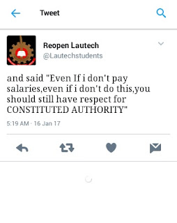 Lautechstudents tweet