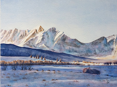 aquarelles JP Wisniewski aquarelle de montagne original watercolor painting french Alps