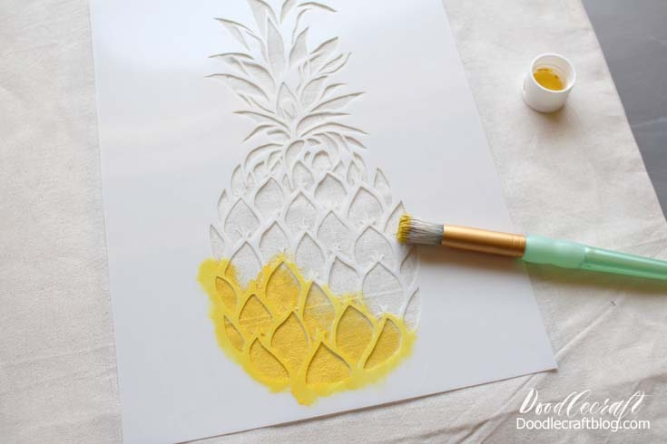 Step 2: Paint the Image Open the paint and hold stencil steady while you dab the stencil brush straight up and down.