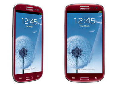Red Samsung Galaxy S III