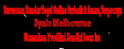 Syair Melbourne,31-03-2019