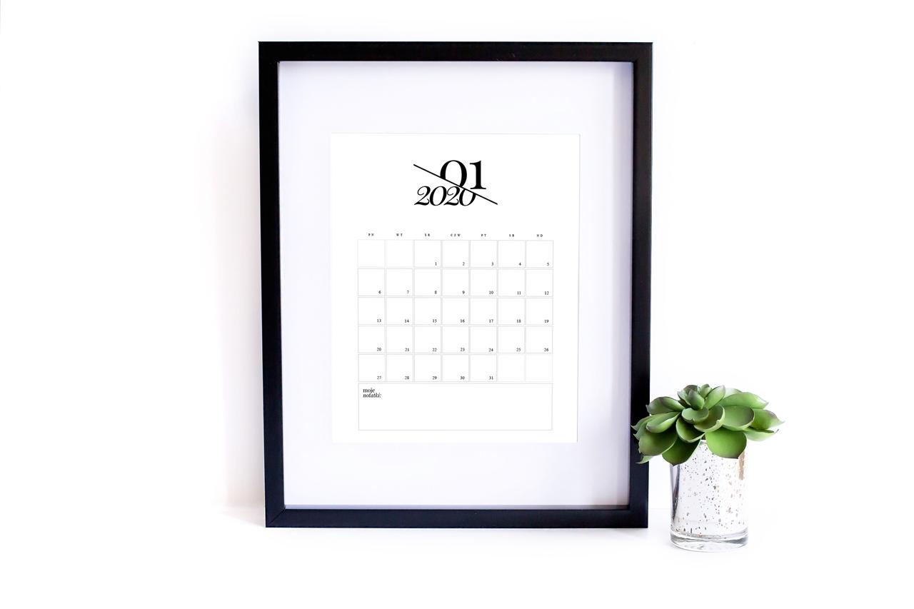 Kalendarz 2020 do druku - Karografia