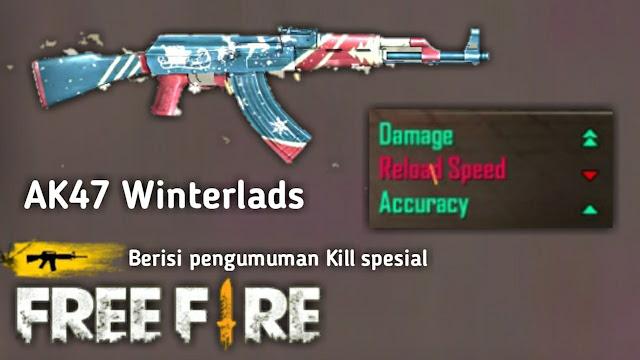 Banyak Dipakai! Inilah 8 Skin Senjata Jarak Jauh (Berpeluru AR) Paling Mematikan di Game Free Fire, ak winterlands