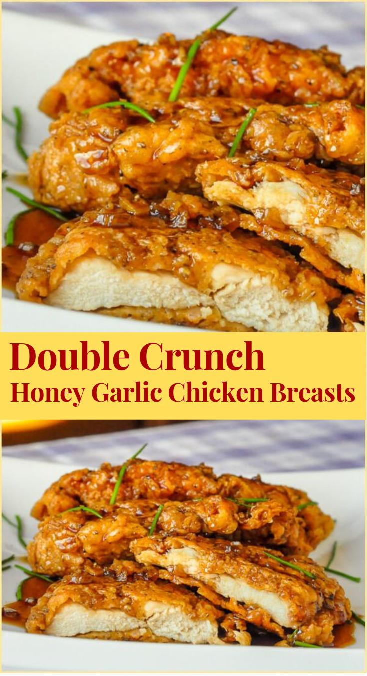 DOUBLE CRUNCH HONEY GARLIC CHICKEN BREASTS #Dinner #Chicken