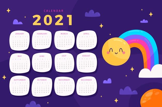 Calendario escolar 2021 gratis