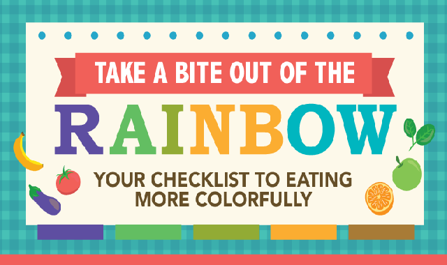 Your Healthy Guide To Eating Colorfully #infographic