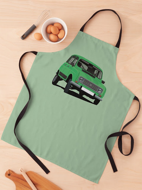 Renault 4 apron - gift