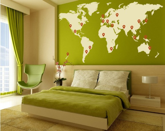 Deehan's Pensieve: World Map Murals And Wallpapers