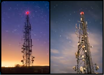 Why red light on mobile tower and building?