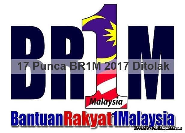 Punca BR1M 2017 Ditolak