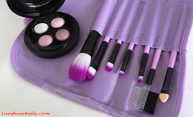 Purple Portable Makeup Brush Set, Makeup Brushes