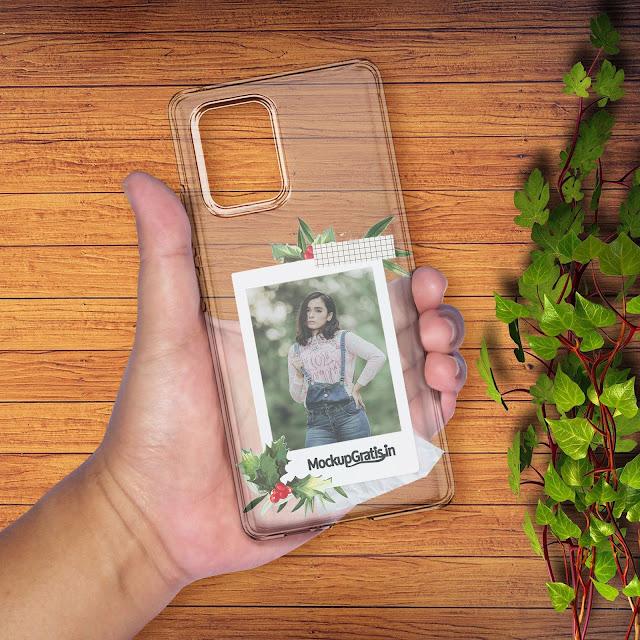 Mockup Gratis Custom Softcase Samsung Galaxy S10 Lite Transparan