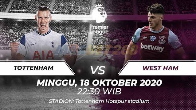 Prediksi Tottenham Hotspur Vs West Ham United, Minggu 18 Oktober 2020 Pukul 22.30 WIB @ Mola TV