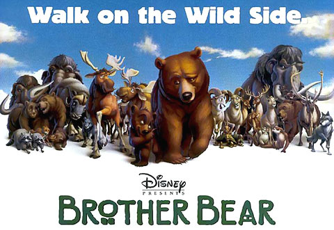 Film poster Brother Bear 2003 animatedfilmreviews.filminspector.com