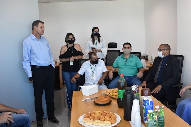 Hoje 26/ 05/2021 o deputado Iolando, recebe Blogueiros e Jornalistas para um Café da manhã!