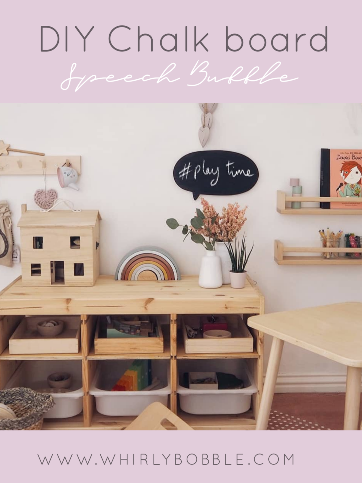 DIY Chalk board Speech Bubble