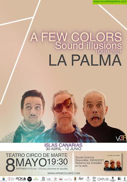El trío de jazz fusion A Few Colors presenta su nuevo álbum 'Sound Illusions' en el Teatro Circo de Marte de la capital palmera