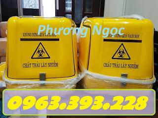 Thùng chở rác thải y tế sau xe máy, thùng vận chuyển rác thải lây nhiễm Fdbb5dbf2b3fce61972e