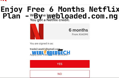 Enjoy Free 6 Months Netflix Plan