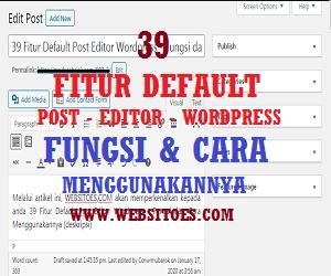 Gambar 39 Fitur Default Post Editor WordPress
